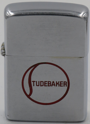 1950 Zippo with a Studebaker logo. Clem and Henry Studebaker started a blacksmith shop in 1852 and supplied wagons to the U.S. Army during the Civil War. It became the world's leading wagon maker and moved into making gasoline powered wagons in the early 1900's.  Studebaker  went on to became a leading automobile manufacturer until it went out of business in 1966.