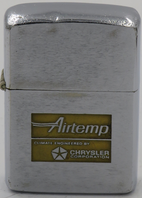 1964 Zippo advertising Airtemp - Climate Engineered by Chrysler Corp