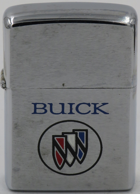 1977 Zippo for Buick with the distinctive three-shield logo