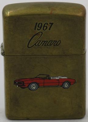 1991 1967 Camaro red on brass.JPG
