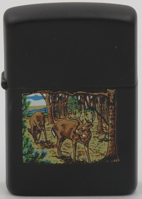 1989 deer in woods on black.JPG