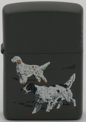 1988 prototype Zippo of Game Series English setters