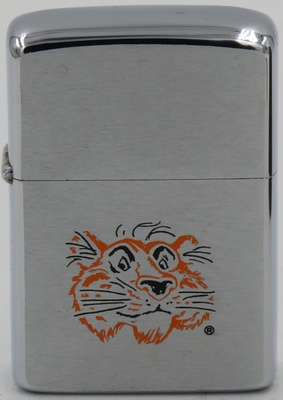 """1972 Zippo with the Exxon Tiger. The Tiger became a major Exxon mascot in 1959 when the slogan """"Put a Tiger in Your Tank"""" was born"""