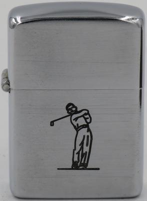 1946-48 Zippo with a line-drawn golfer
