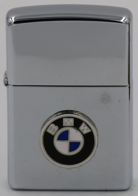 1999 Zippo with an attached BMW badge
