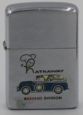 1959 Zippo with a Hathaway Bakeries Division van
