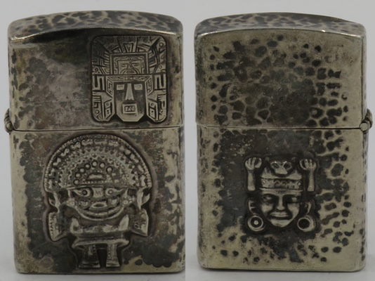 1950's 925 Sterling lighter from Peru with Inti and other gods