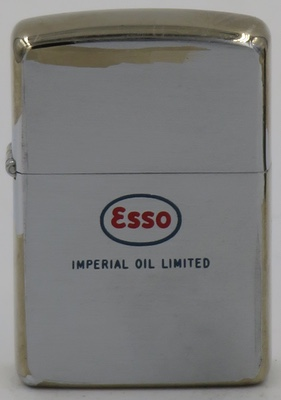 1950 Zippo engraved with the ESSO logo and Imperial Oil Limited, a Canadian energy company