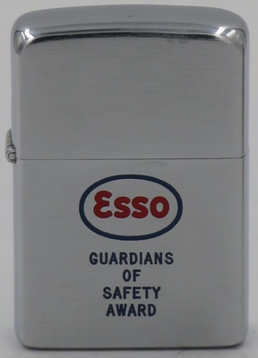 """1957 Zippo for ESSO """"Guardians of Safety Award"""""""