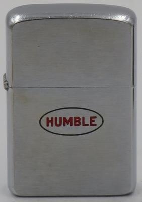 1957 Zippo with the Humble Oil & Refining Company logo
