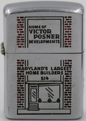1953 Zippo for the Home of Victor Posner Development - Maryland's Largest Home Builders 514