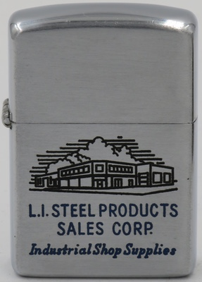 1953 Zippo advertising L I Steel Products Sales Corp. Industrial Shop Supplies