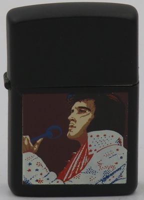 1990 Zippo with Elvis on a black case.