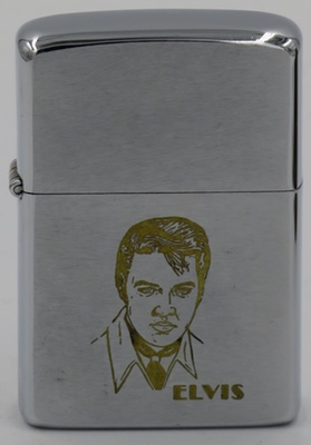 1981 Zippo with unpainted Elvis on matte finish.