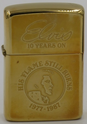 1986 Zippowith Elvis Presley signature - Elvis 10 Years On - His Flame Still Burns 1977-1987.
