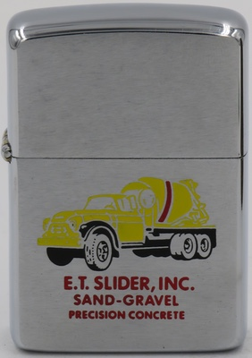 1964 Zippo for E.T.Slider, Inc. with a cement truck