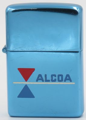 This is a 1956 prototype Zippo with an aluminum case and hinge with Alcoa name and logo. Only one known in existence