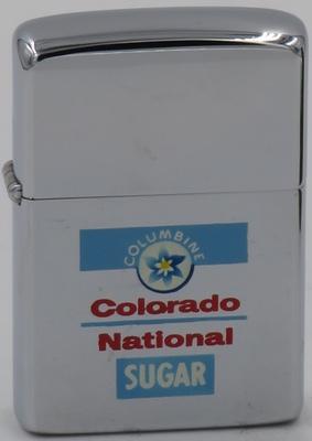 1962  Town & Country Zippo advertising  National Sugar in Sugar City Colorado
