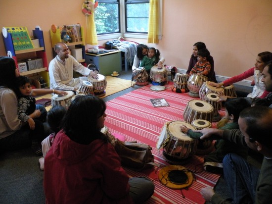 Kids Music Class with Tabla (Indian Drums) in the East Bay