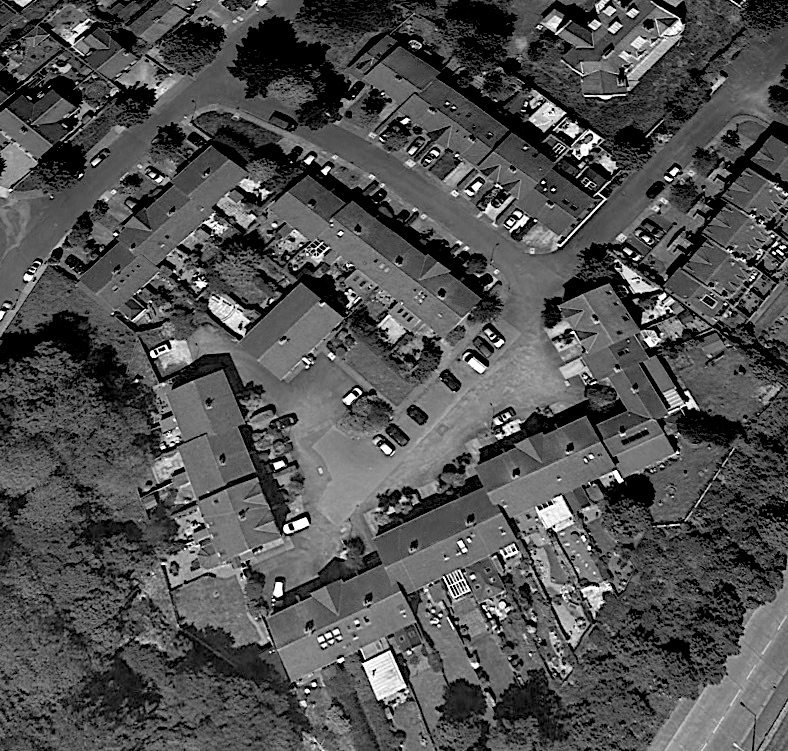 Google Earth Image of the built scheme