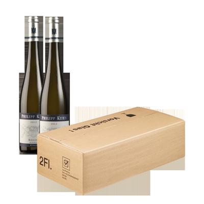 8000: Wir verpacken den Wein direkt in PTZ-Versandkartons.