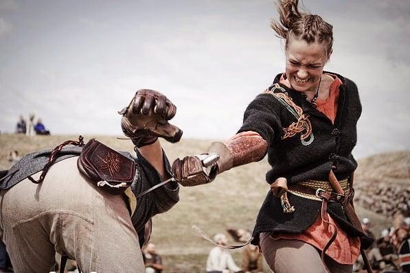Some of my earlier photos from Denmark #girlpower #girlswithweapons #vikings #vikingage #reenactment #livinghistory #duel
