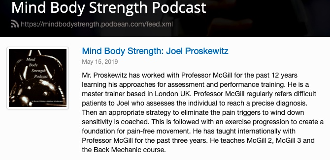 Joel Proskewitz Podcast