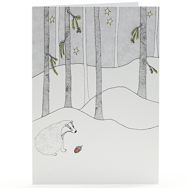 badger finds an acorn web cut out