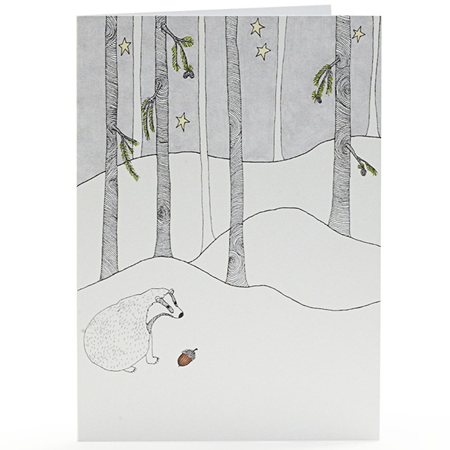 Badger Finds an Acorn Greetings Cards by Abigail Edwards