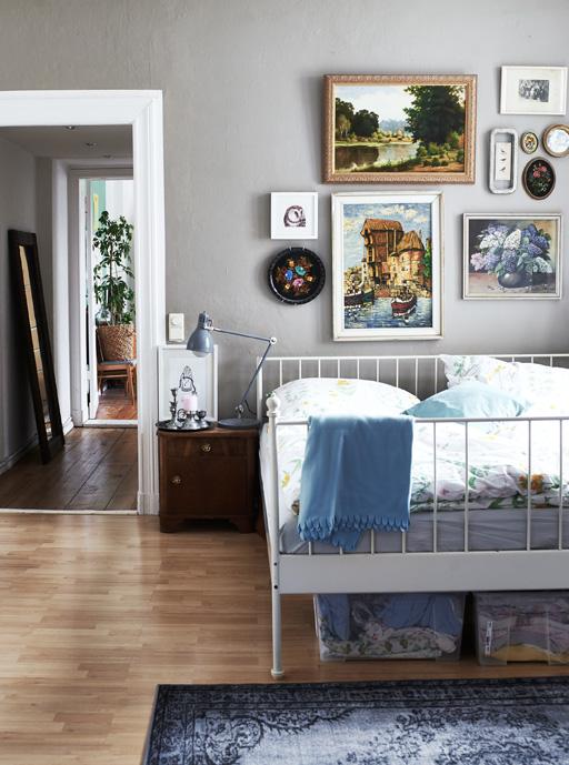 Gallery wall bedroom Ikea
