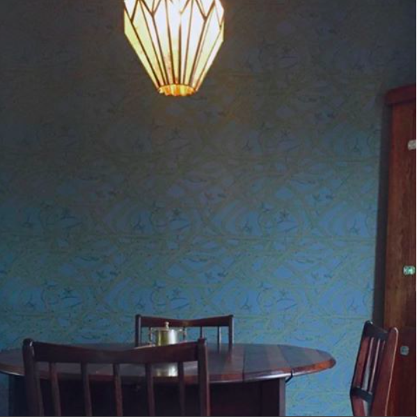 Brambleweb wallpaper in a dining room