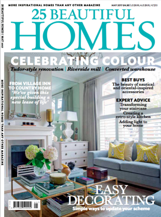 May 2017 cover of 25 Beautiful Homes