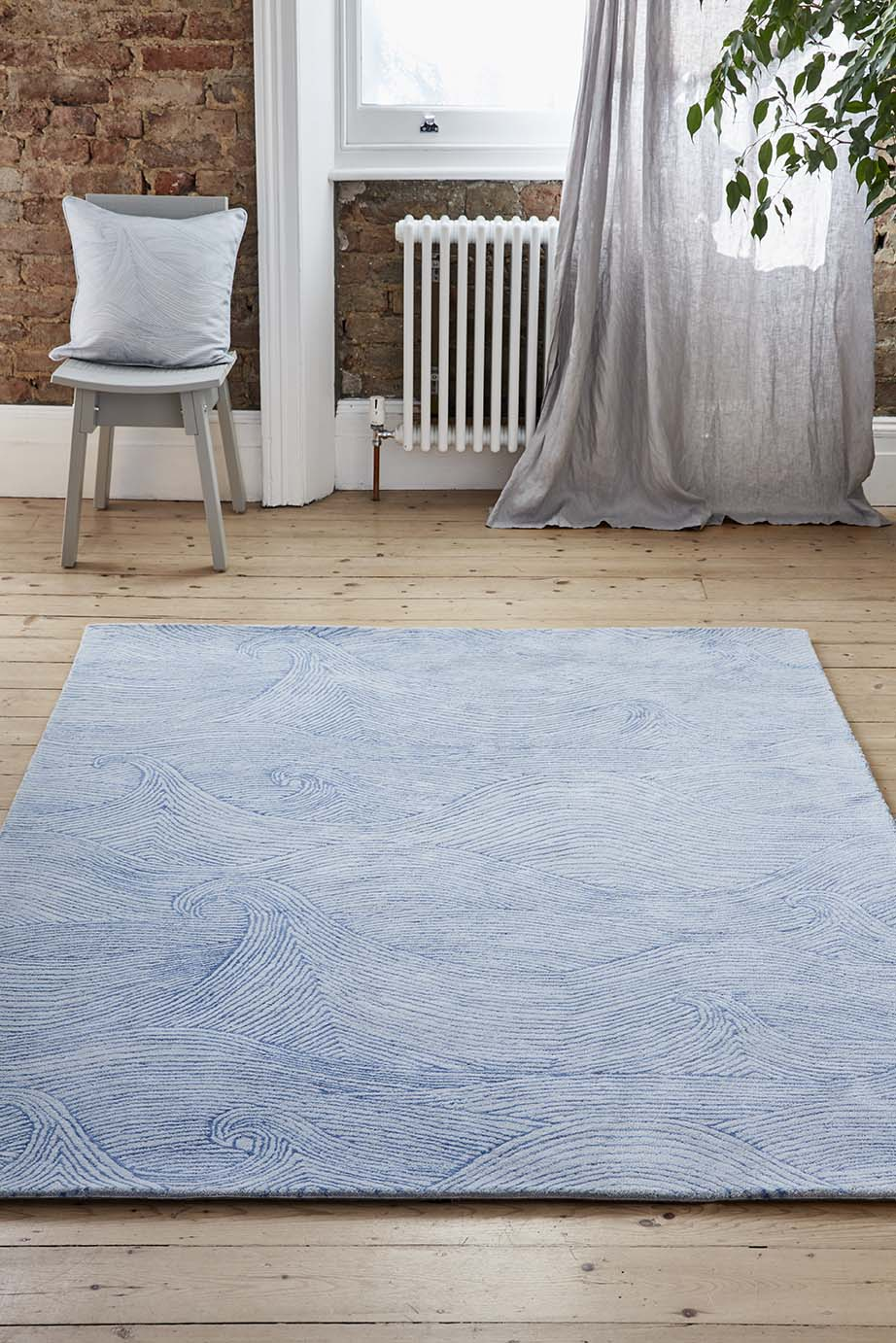 Seascape rug in Summer. Photograph by Alun Callender