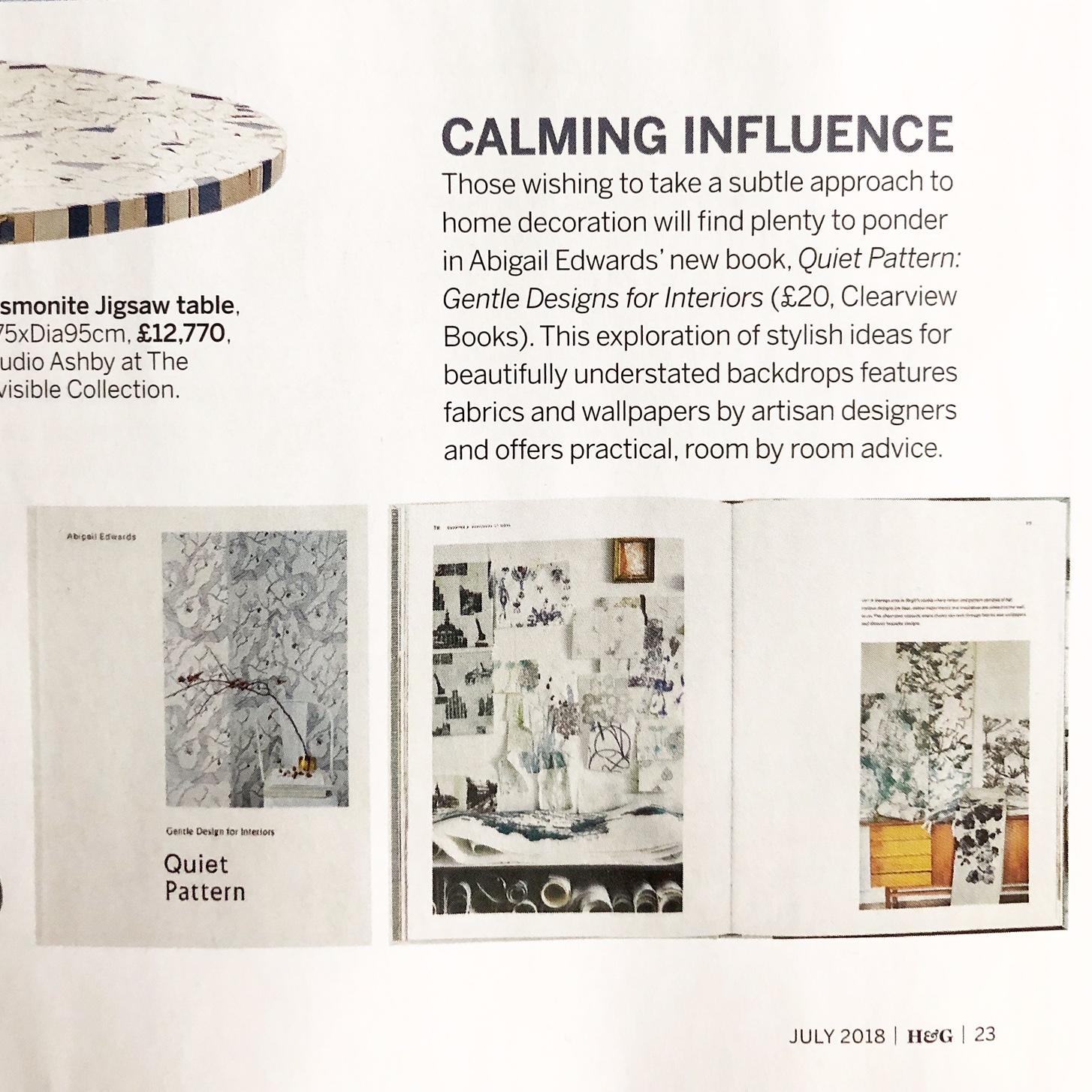 Quiet Pattern in Homes & Gardens Magazine