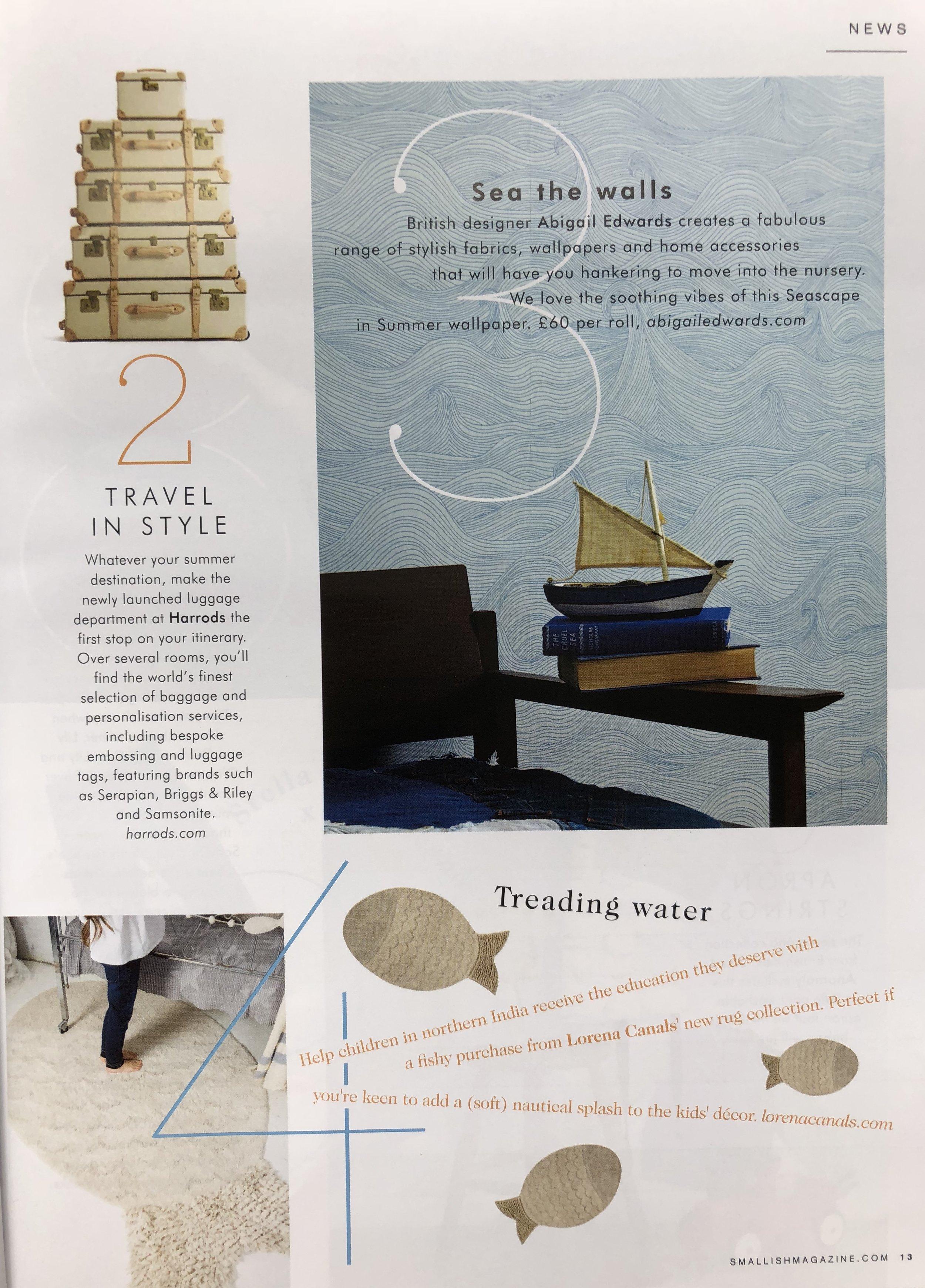 Seascape wallpaper in Summer in Smallish magazine