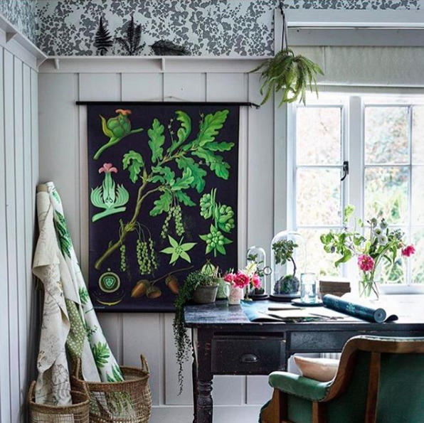 Secret Garden wallpaper in Country Homes & Interiors Magazine