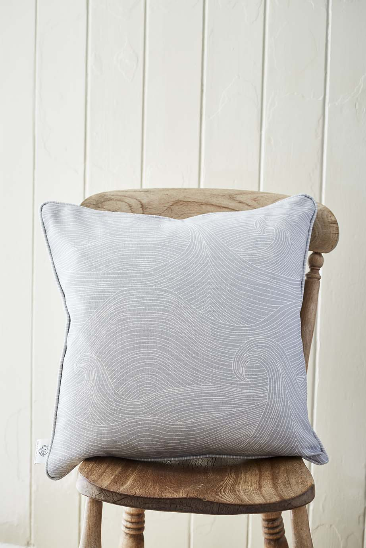 Seascape at Dusk linen cushion cover