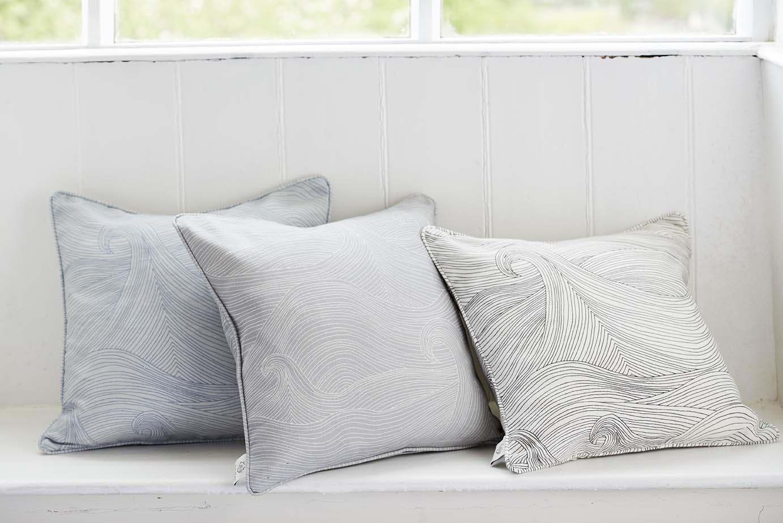 Seascape cushion covers