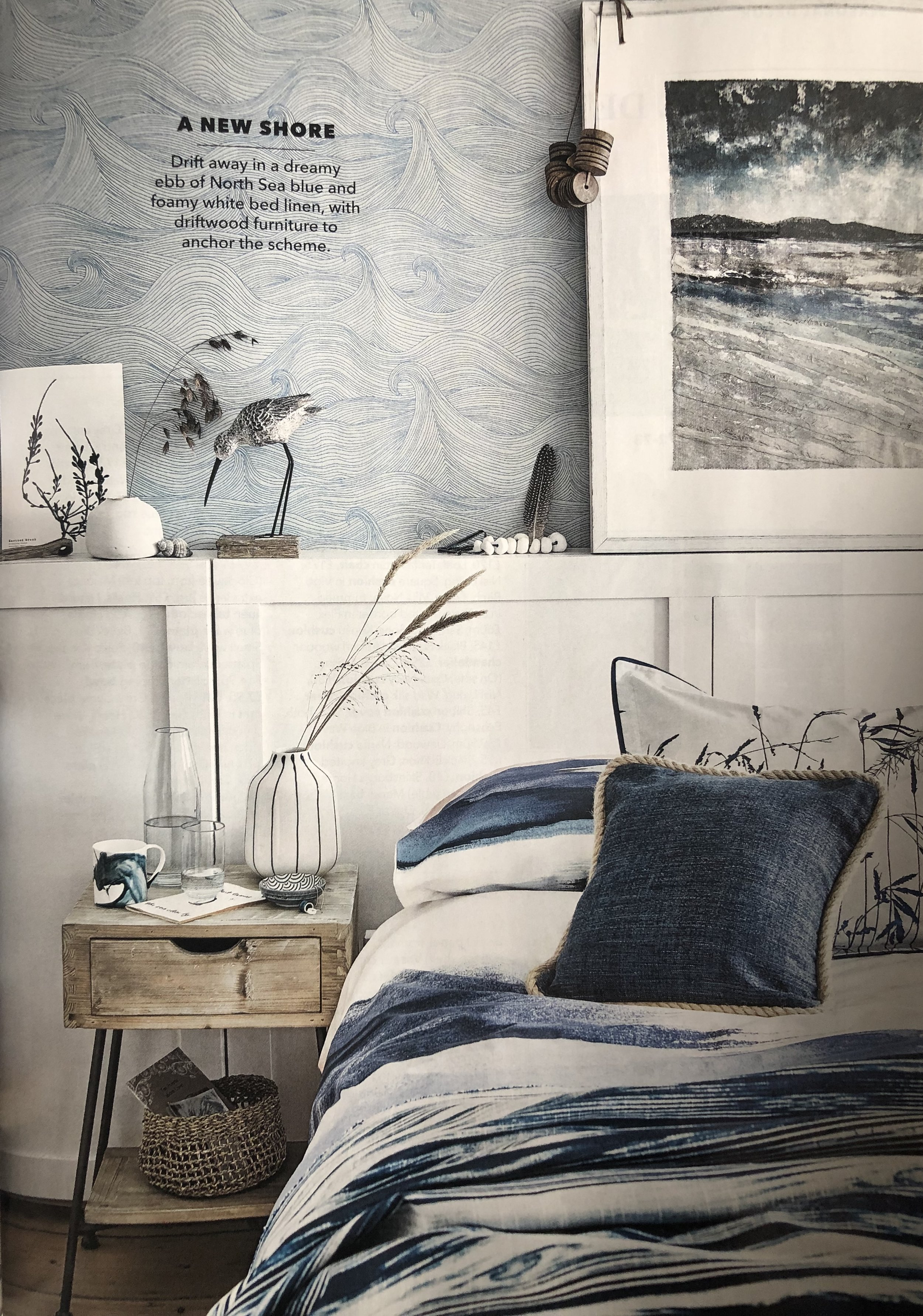 Seascape Wallpaper in Country Homes & Interiors Magazine