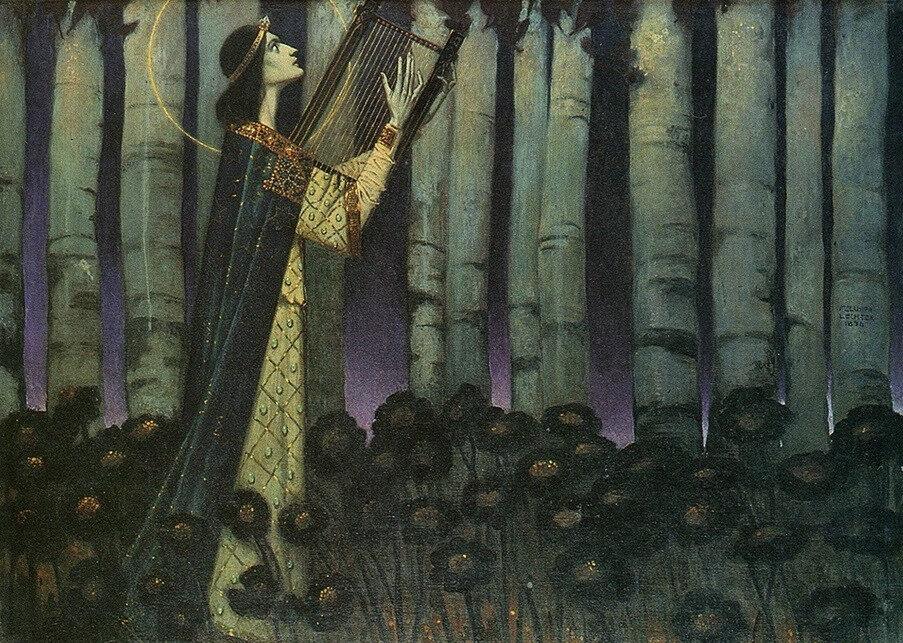 Orphée | Melchior Lechter [1896]