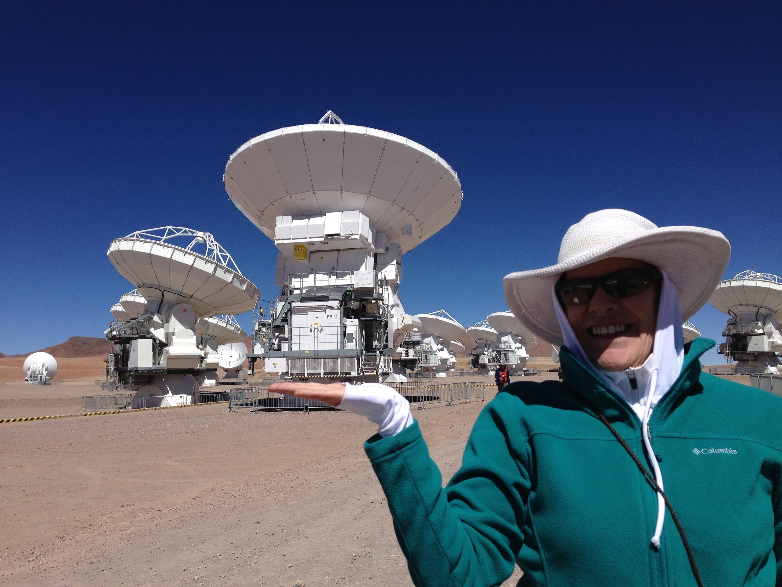 Allison visits the stars at ALMA Observatory in Chile at 16,570 ft altitude.