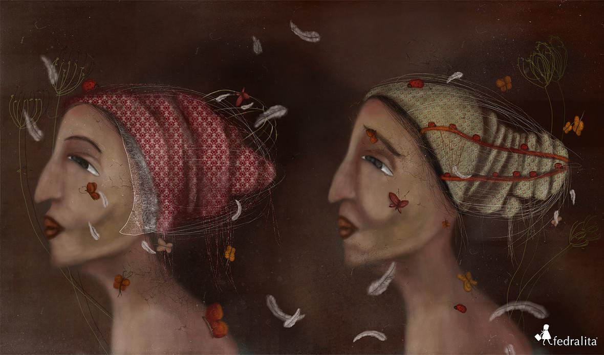 "ALTER EGO 80 x 150 cm (max. 3m length)  Print on ""William Turner"" Hahnemühle"
