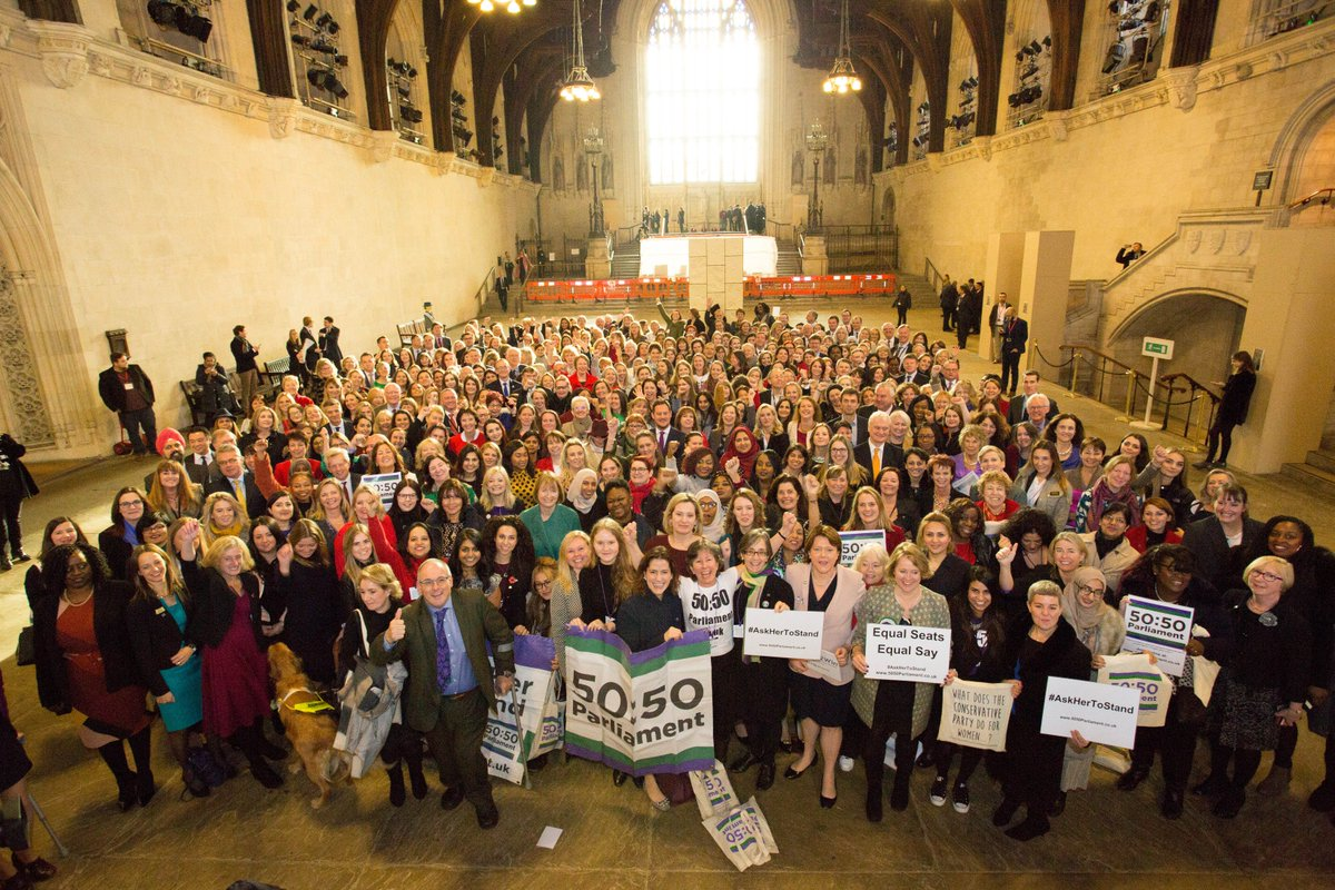#AskHerToStand Day marked the first time women outnumbered men in the Houses of Parliament
