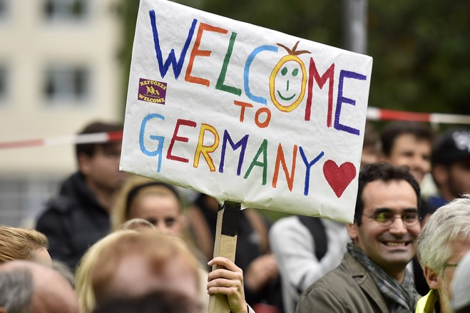 2015 - Residents of Dortman, Germany, Mr. Amri's last known address, welcome him and his friends to town