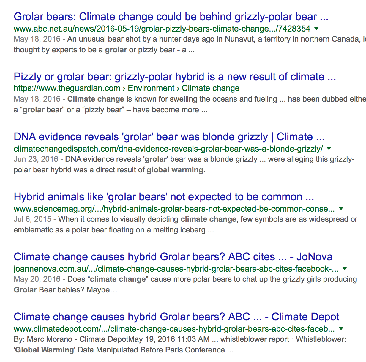 """Settled science from google, which has vowed to fight """"fake news"""""""