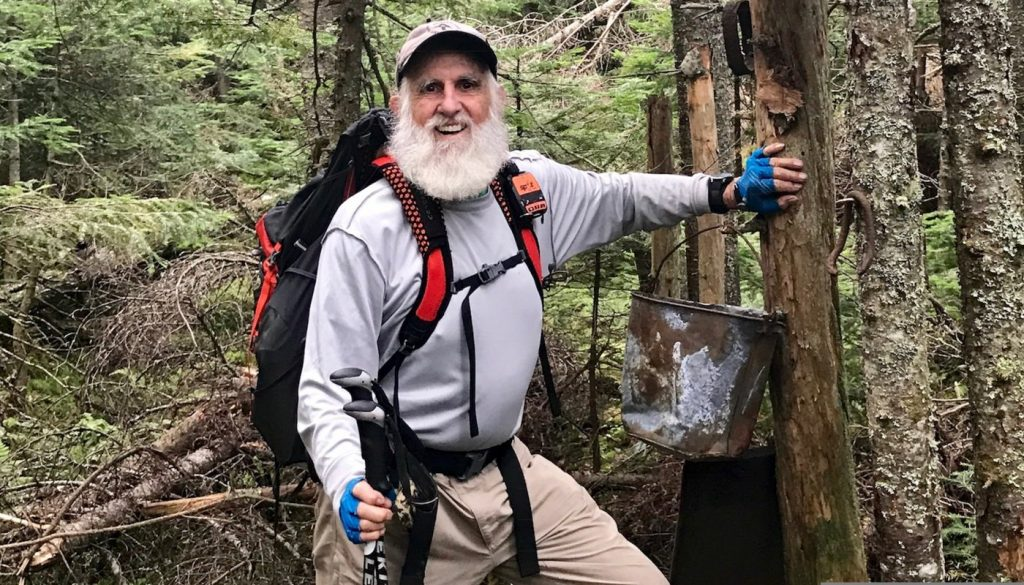 "Dale Sanders — ""when I started this hike I was a slaveowner — God only knows what they've been up to while I've been away!"""