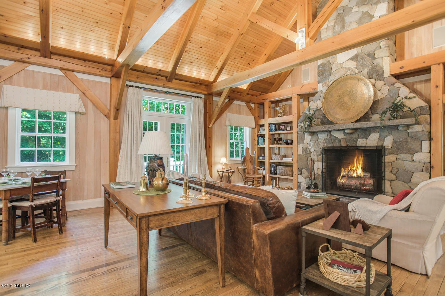 I always caution my clients against making guest cottages  too  comfortable: guests, unwanted relatives and adult children may be tempted to linger beyond Ben Franklin's three-day deadline. Still, …nice.