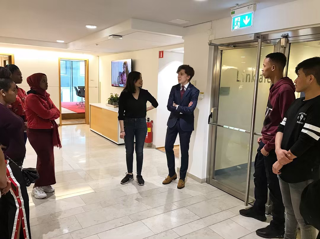 Studiebesök på advokatbyrån Linklaters, Stockholm