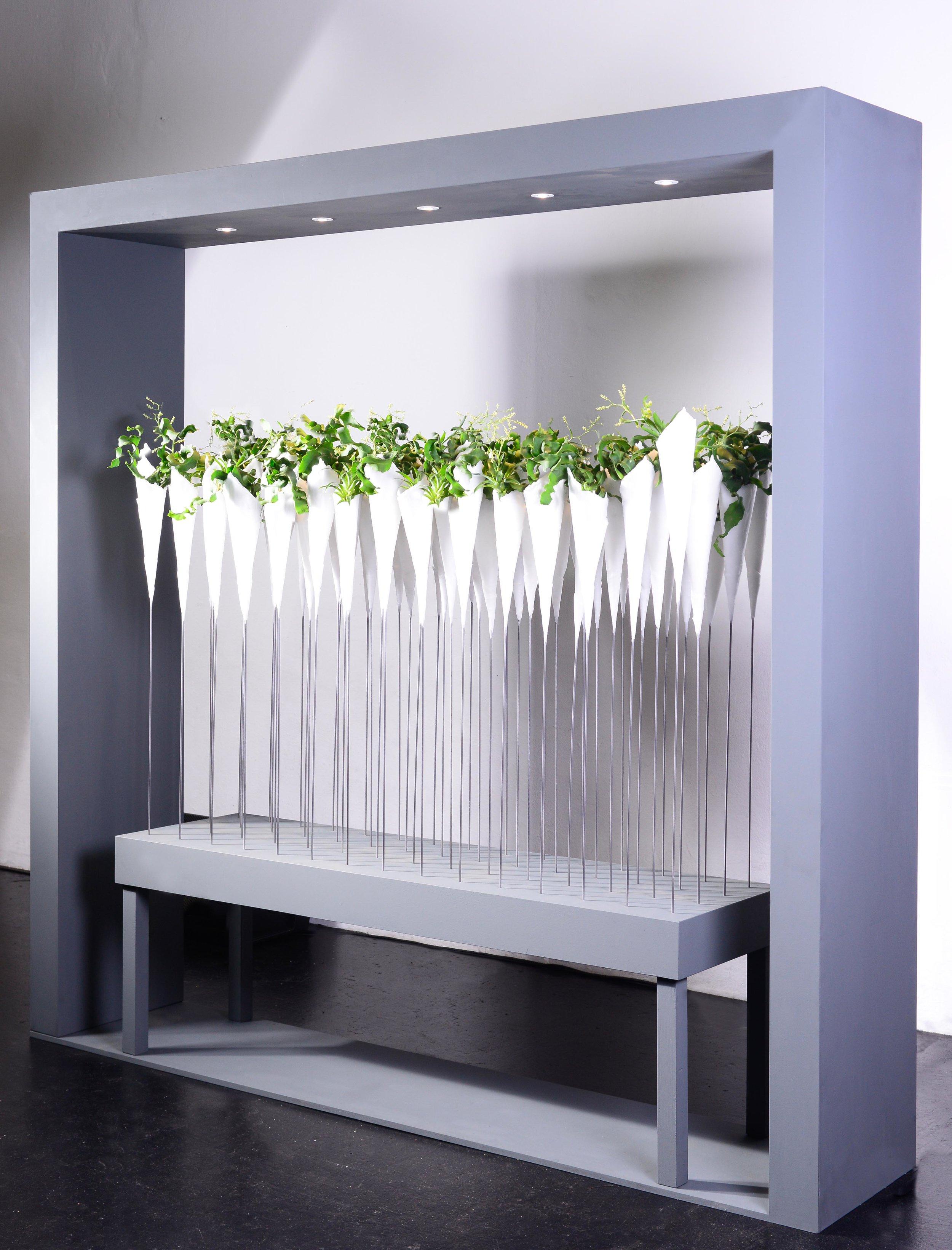 Dem Schweizer Shayne Phillips gelang eine Gestaltung, die eindrücklich zeigte, dass sich die Einzelpflanze auch in einer Gesamtheit behaupten kann.