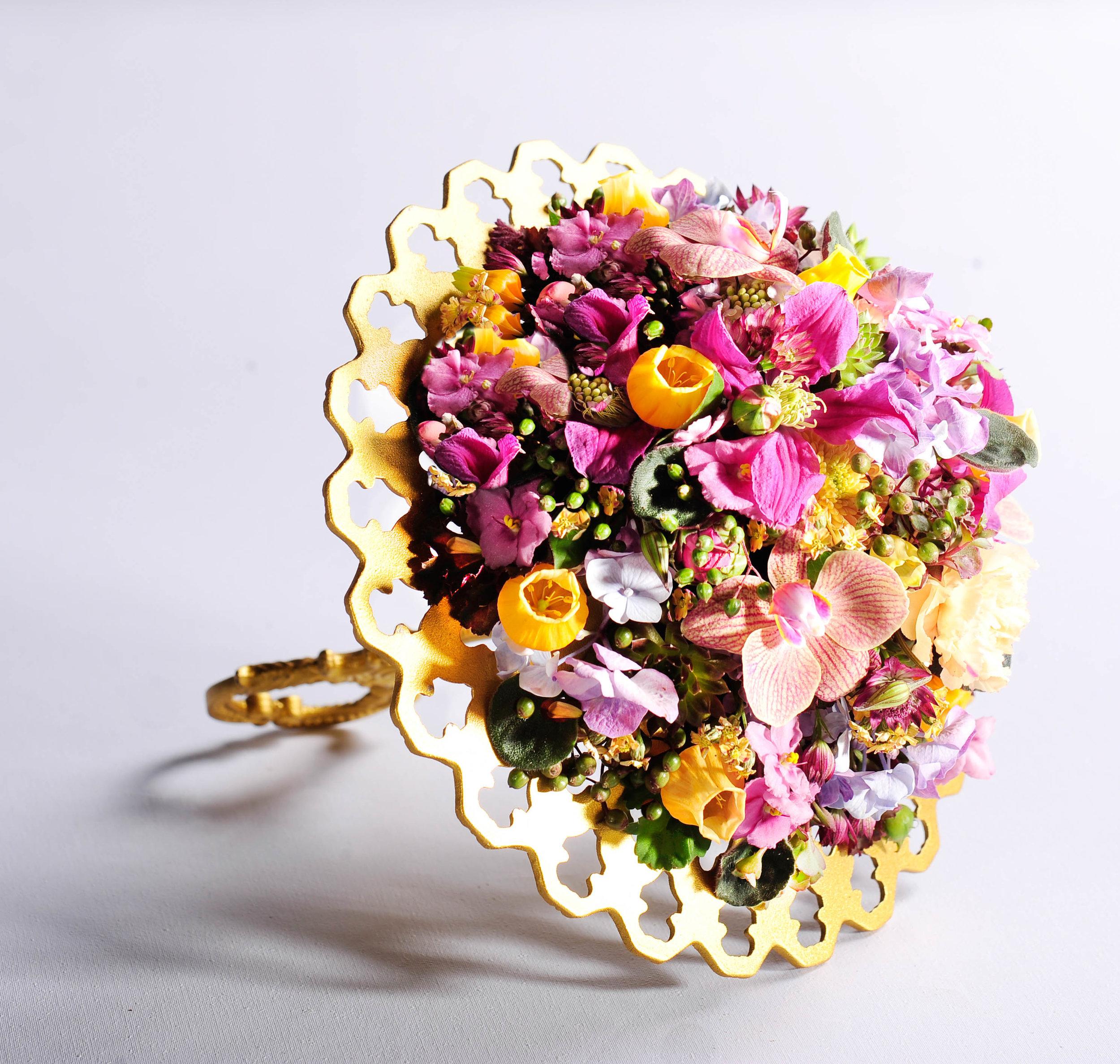 Einen Traum aus Blüten und subtilen Farben gelang Elisa Zwick aus München.